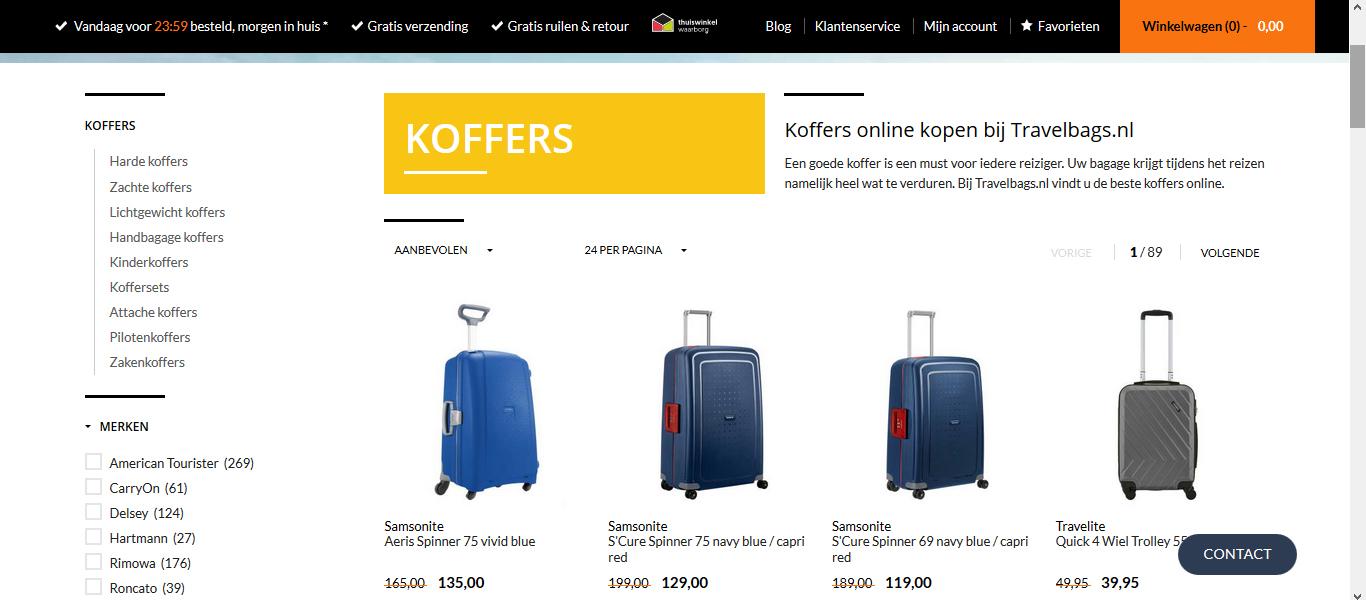 travelbags, koffer kopen