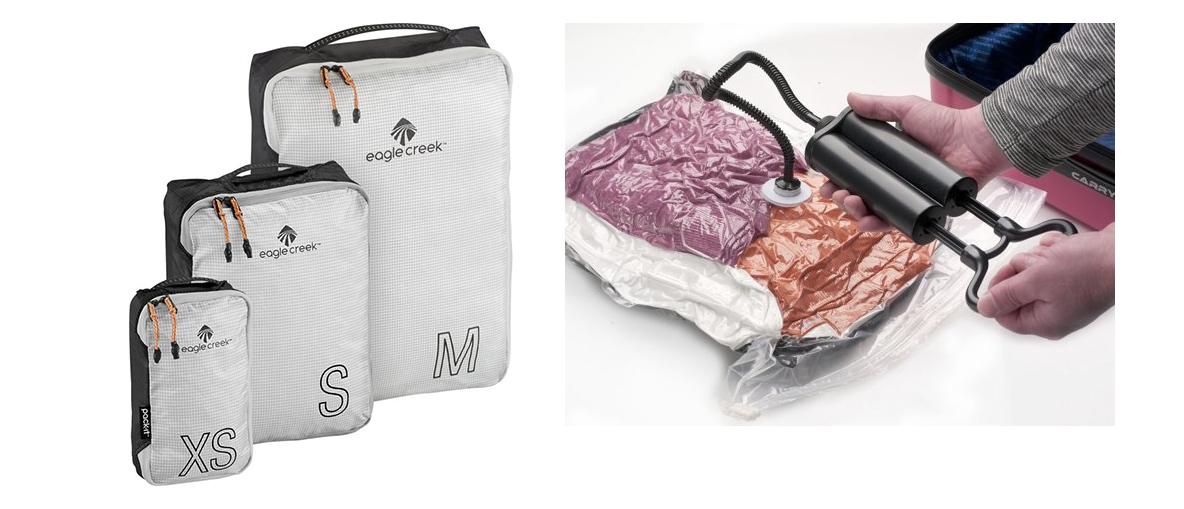 Packing cubes, vacuümzakken, koffer accessoires