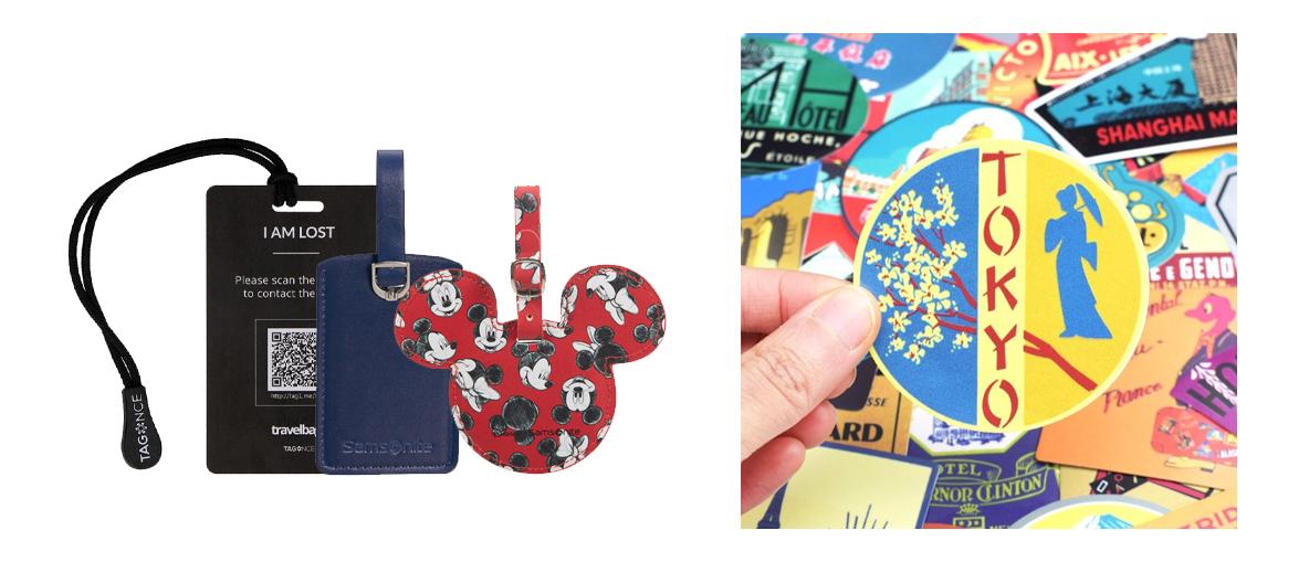 Kofferlabels, koffer stickers, koffer accessoires