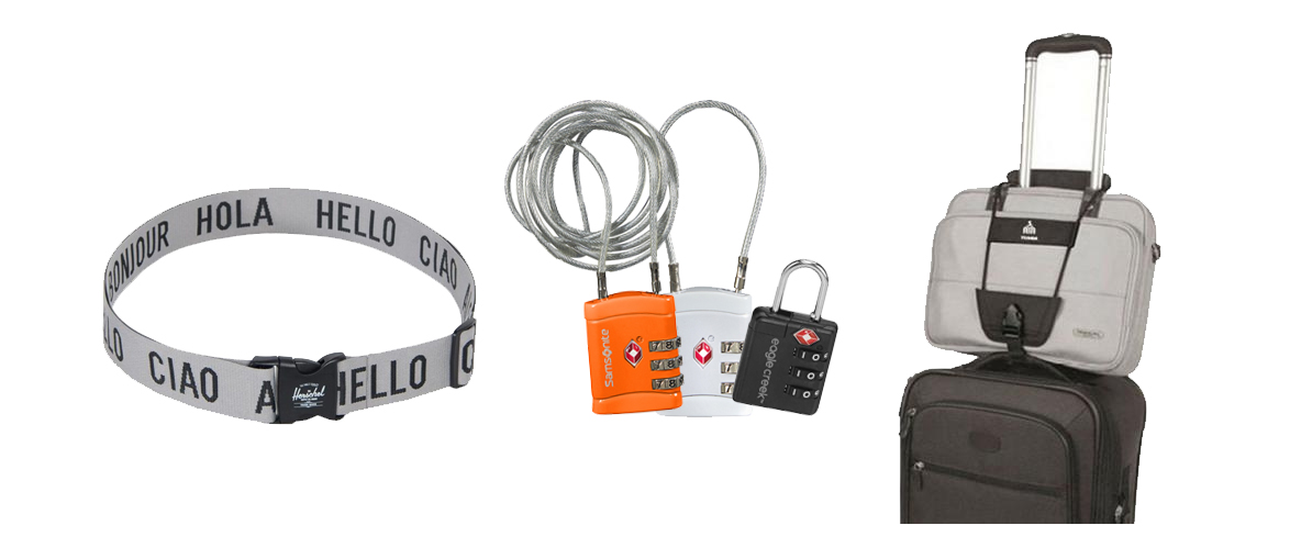 Kofferriemen, koffersloten, bagagebinders,koffer accessoires